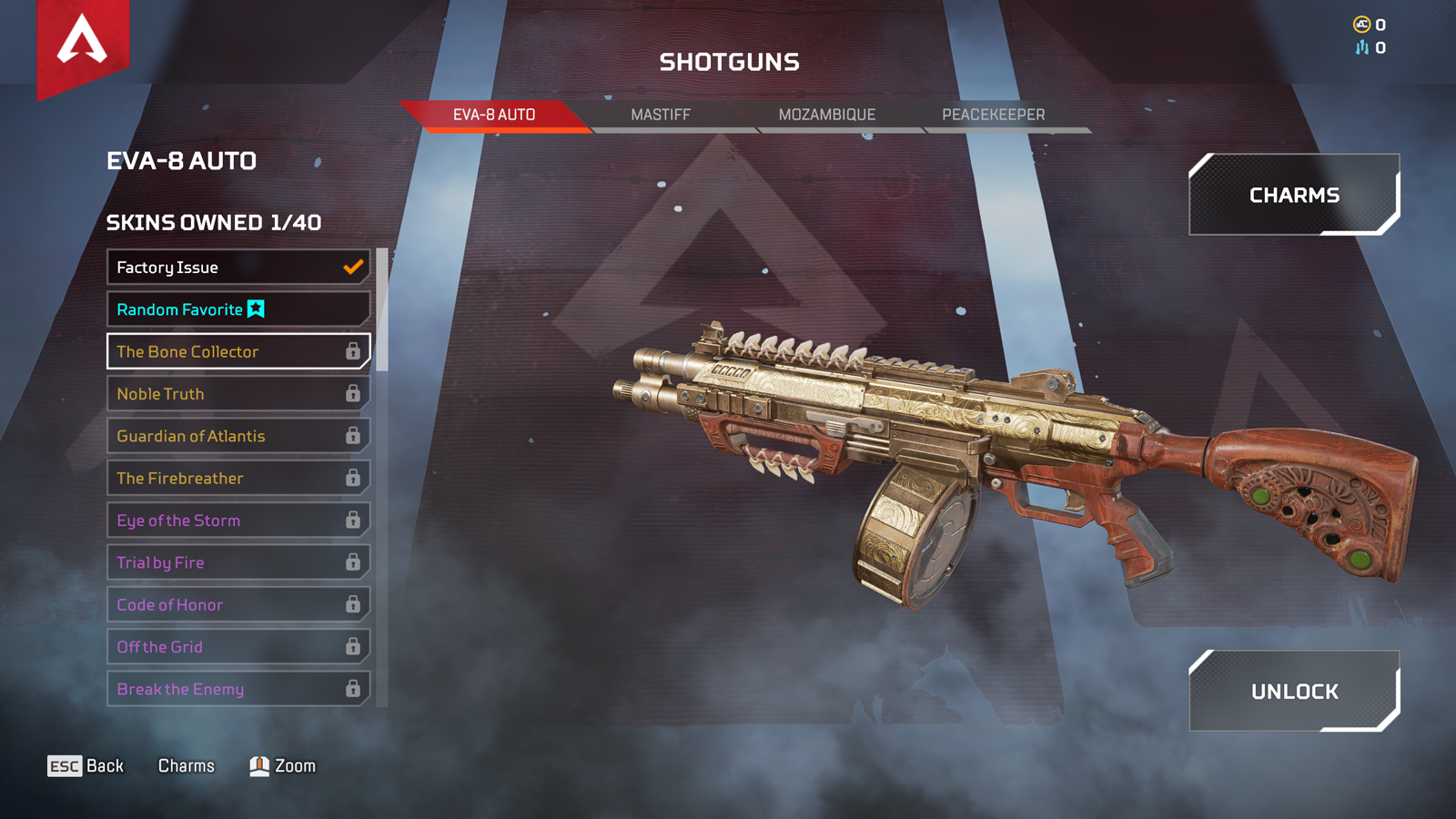 EVA-8 in the Apex Legends loadout menu