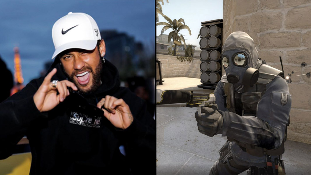 Neymar and a character from CSGO