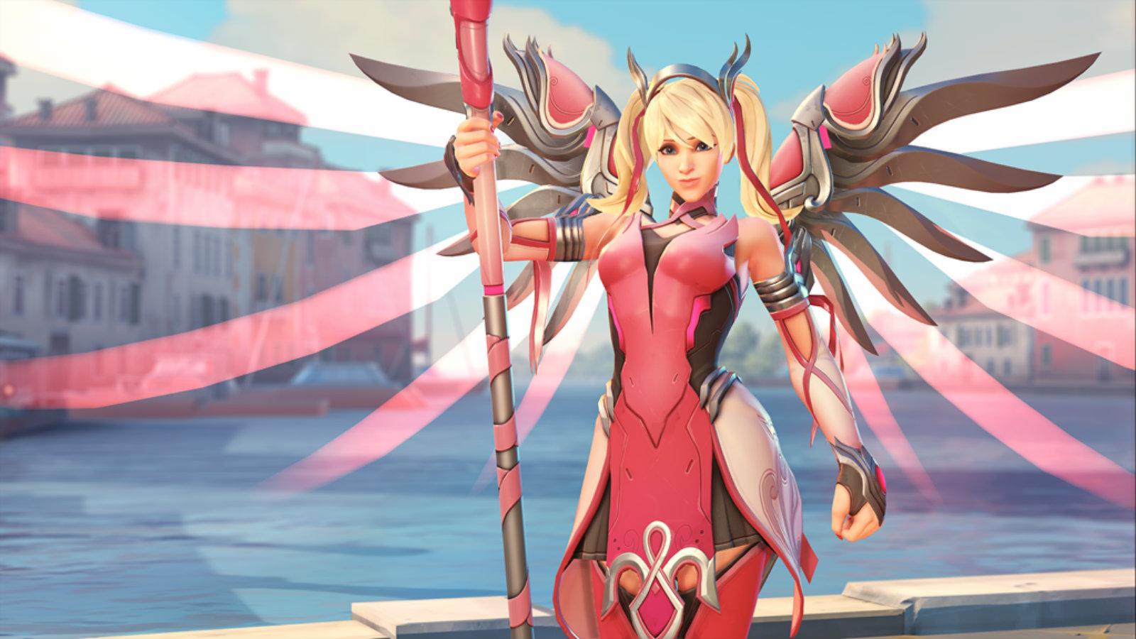 Pink Mercy Overwatch skin