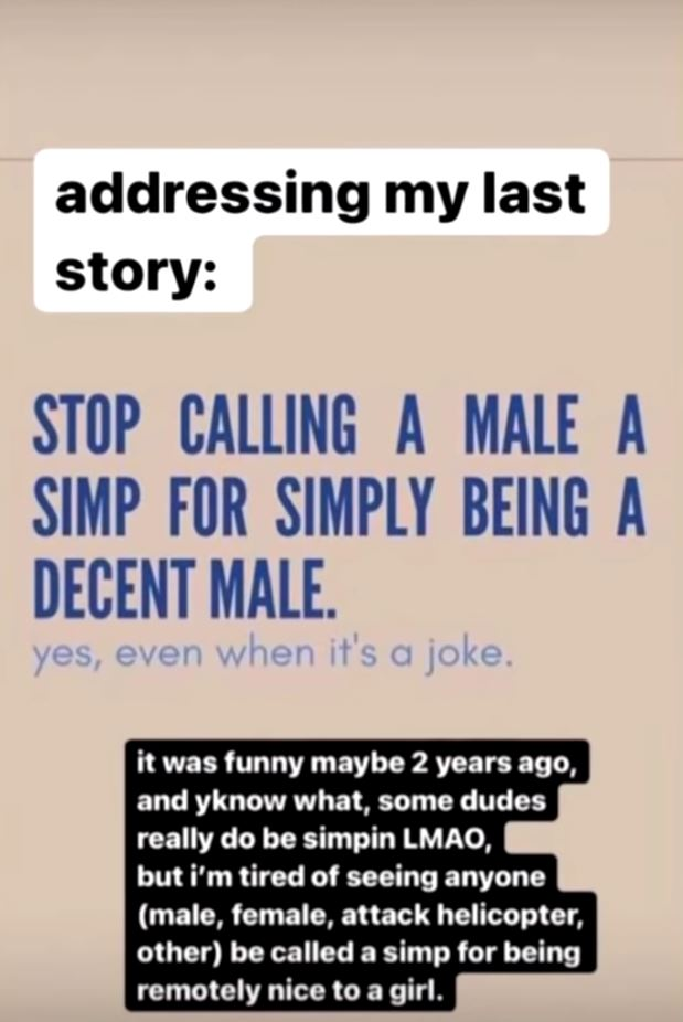 Pokimane's Instagram Stories post.