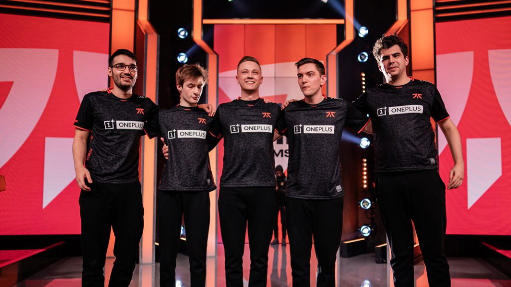 Fnatic on LEC stage