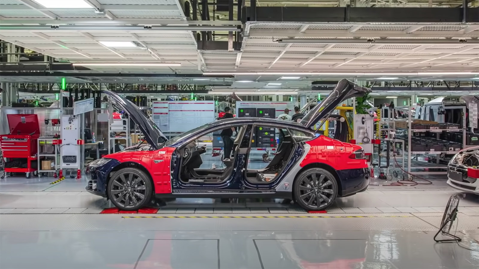 Tesla Model S under construction