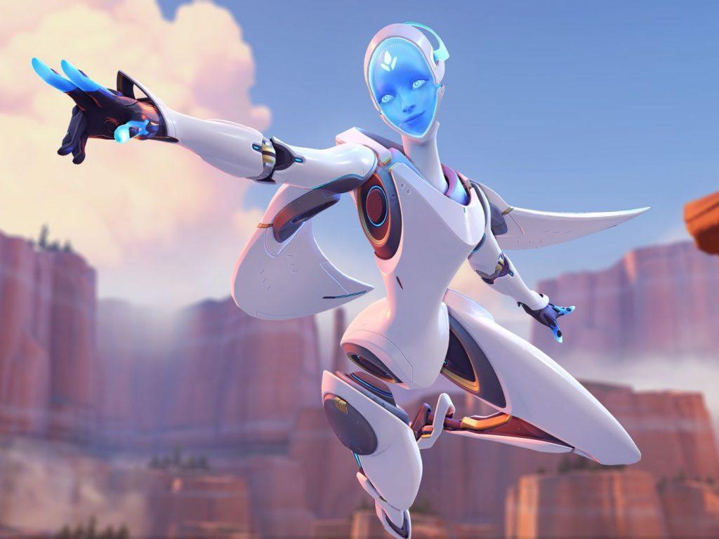 Echo as portrayed in Overwatch key art.