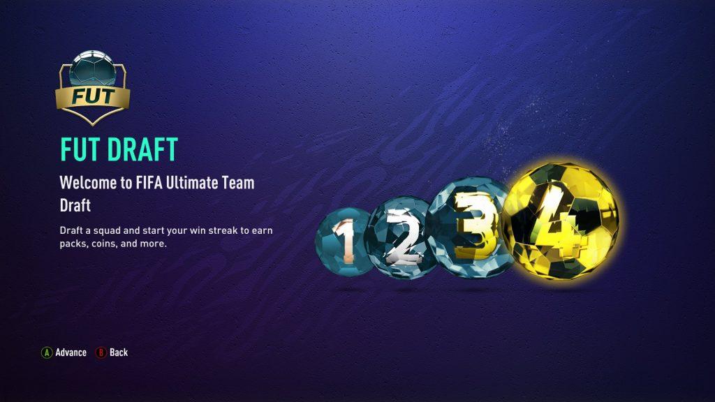 FIFA 21 FUT Draft rewards menu