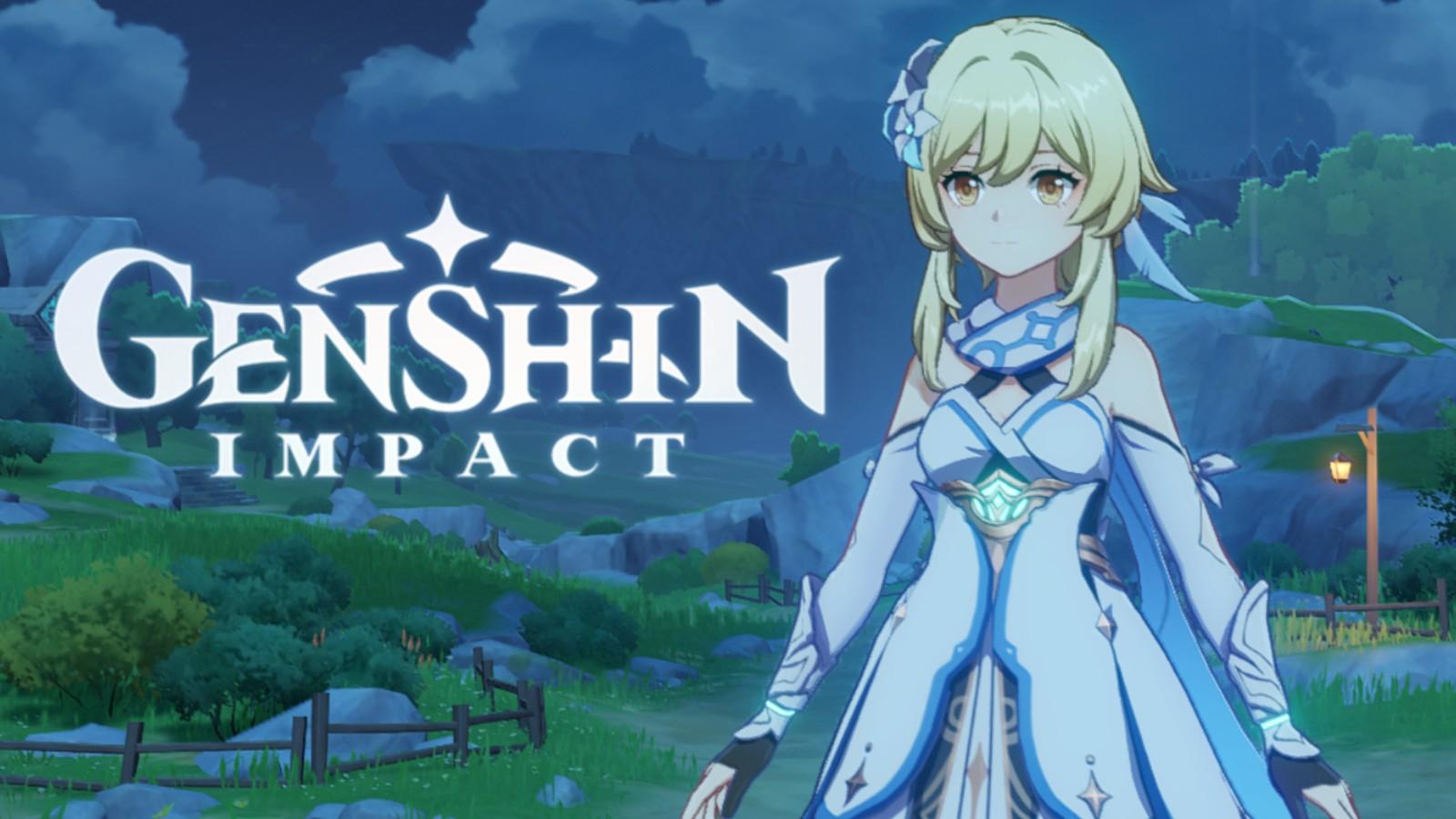 Genshin Impact character by the logo