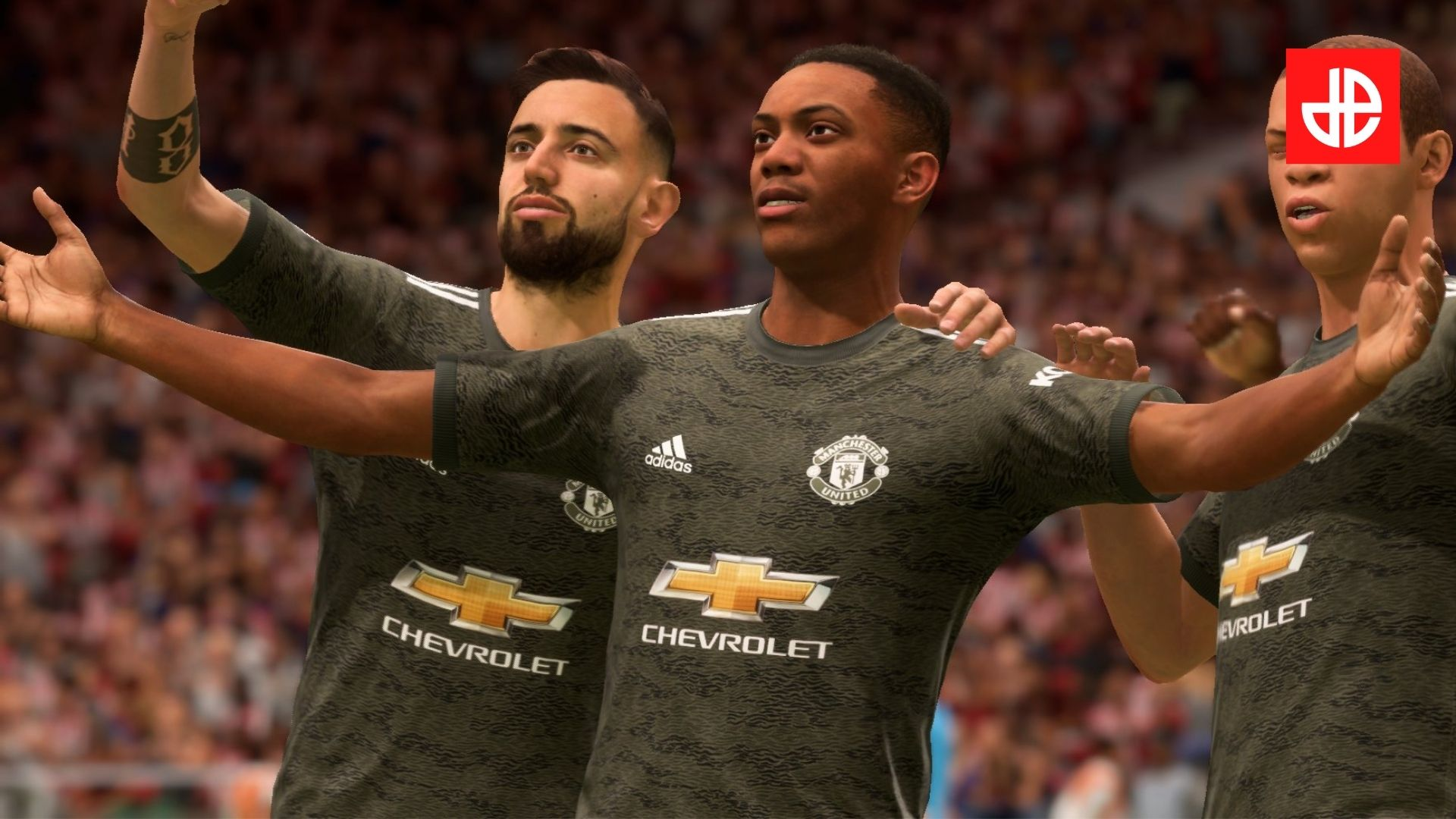 FIFA 21 best strikers image with Martial from Man Utd