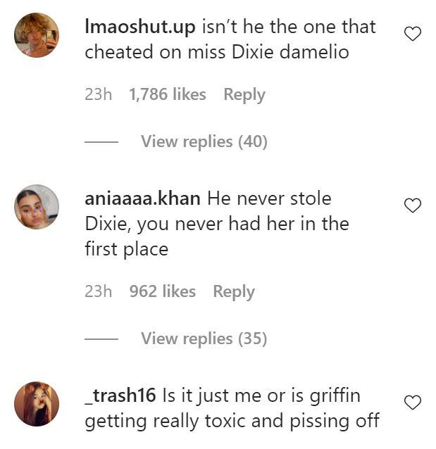 Commenters lash out at Griffin Johnson.