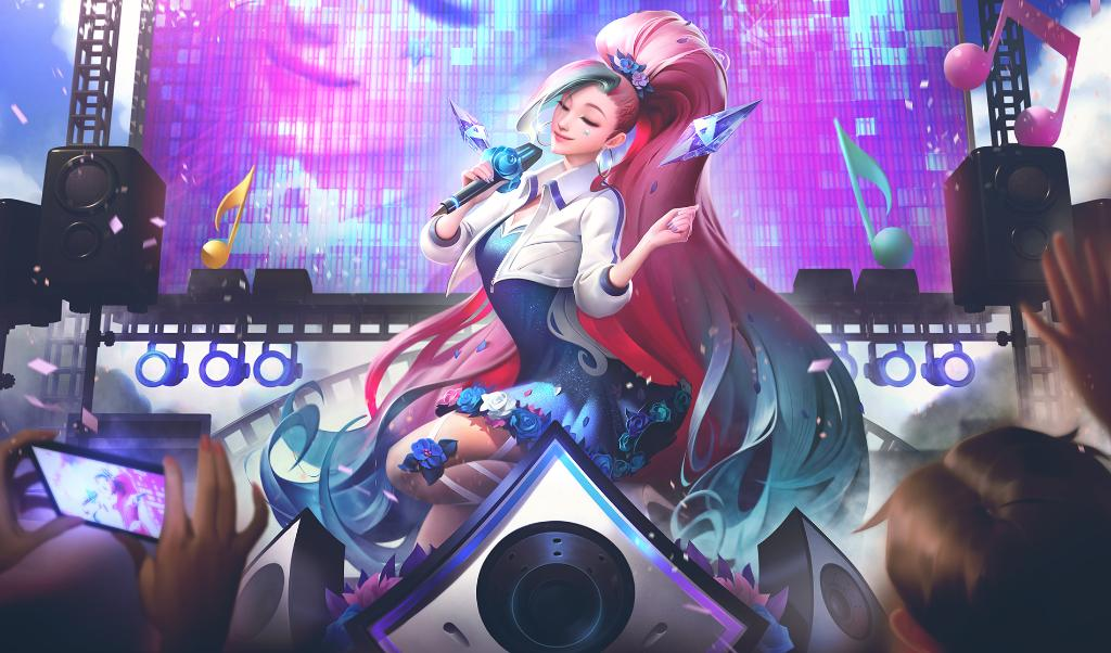KDA All Out Seraphine Rising Star in League of Legends