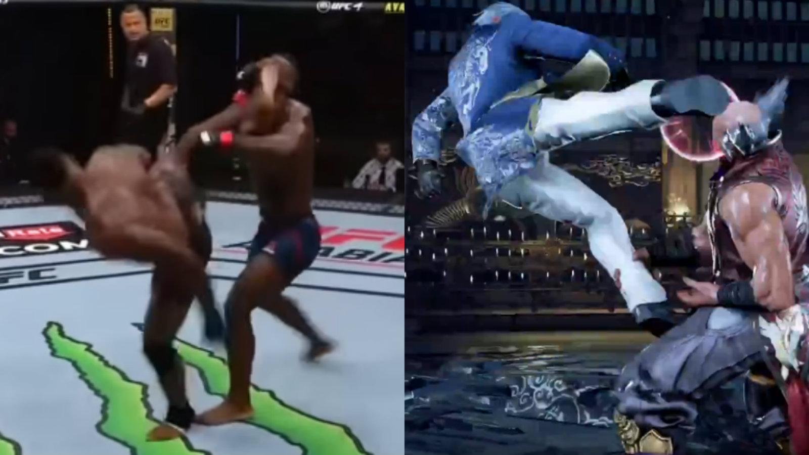 UFC fighter performs Tekken move