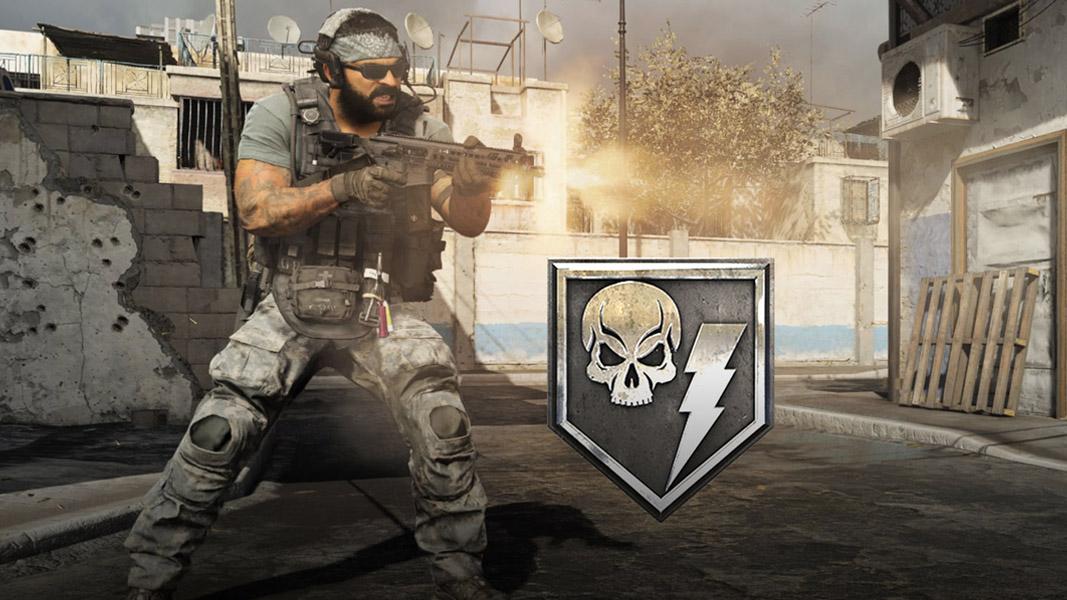 Cranked game mode logo next to CoD Modern Warfare fighter.