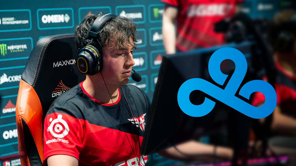 es3tag playing for Heroic with Cloud9 logo