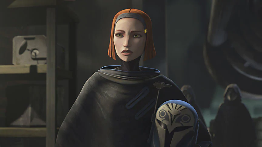 Bo-Katan was one of the main Mandalorian heroes in The Clone Wars series.
