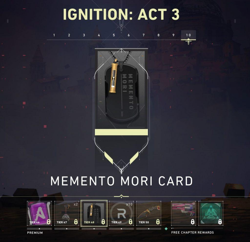 Memento Mori Valorant player card
