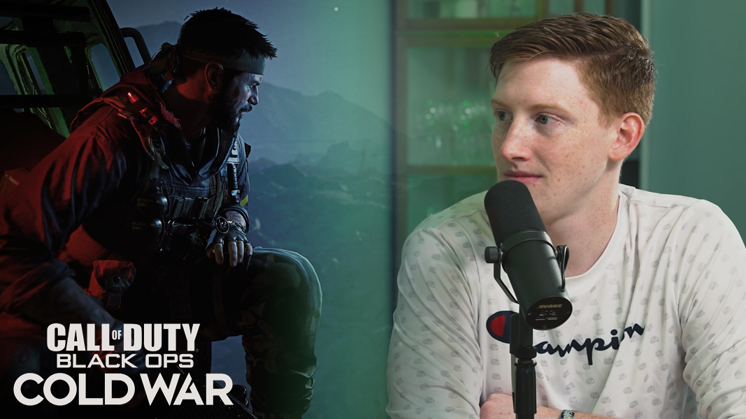 Scump looking at Black Ops Cold War character