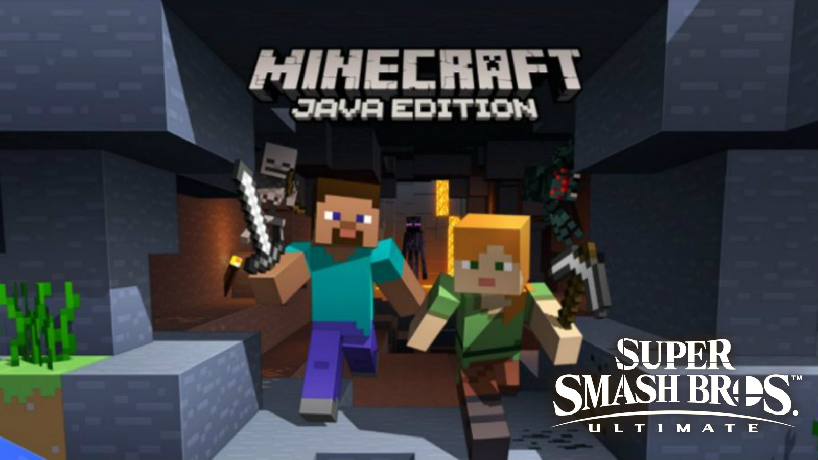 Minecraft Steve and Alex in Smash