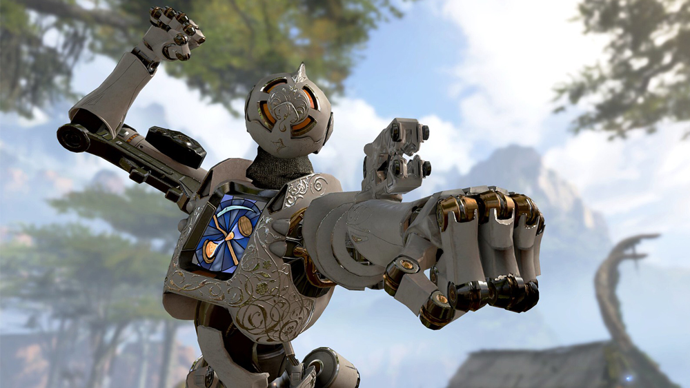 Pathfinder using the grapple in Apex Legends
