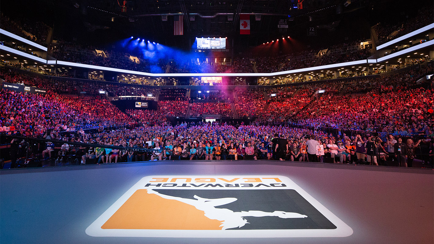 Overwatch League stage at 2018 grand final