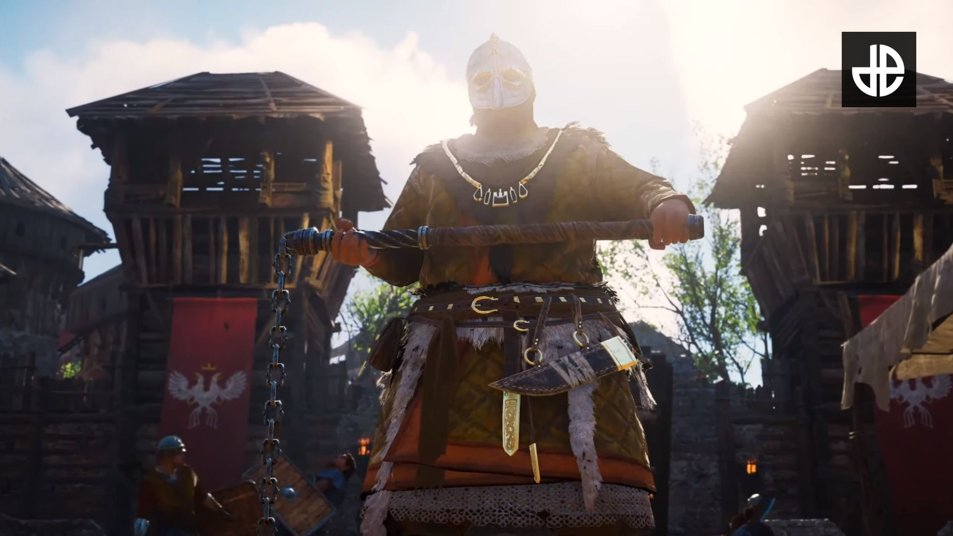 An enemy with a mace in Assassin's Creed Valhalla