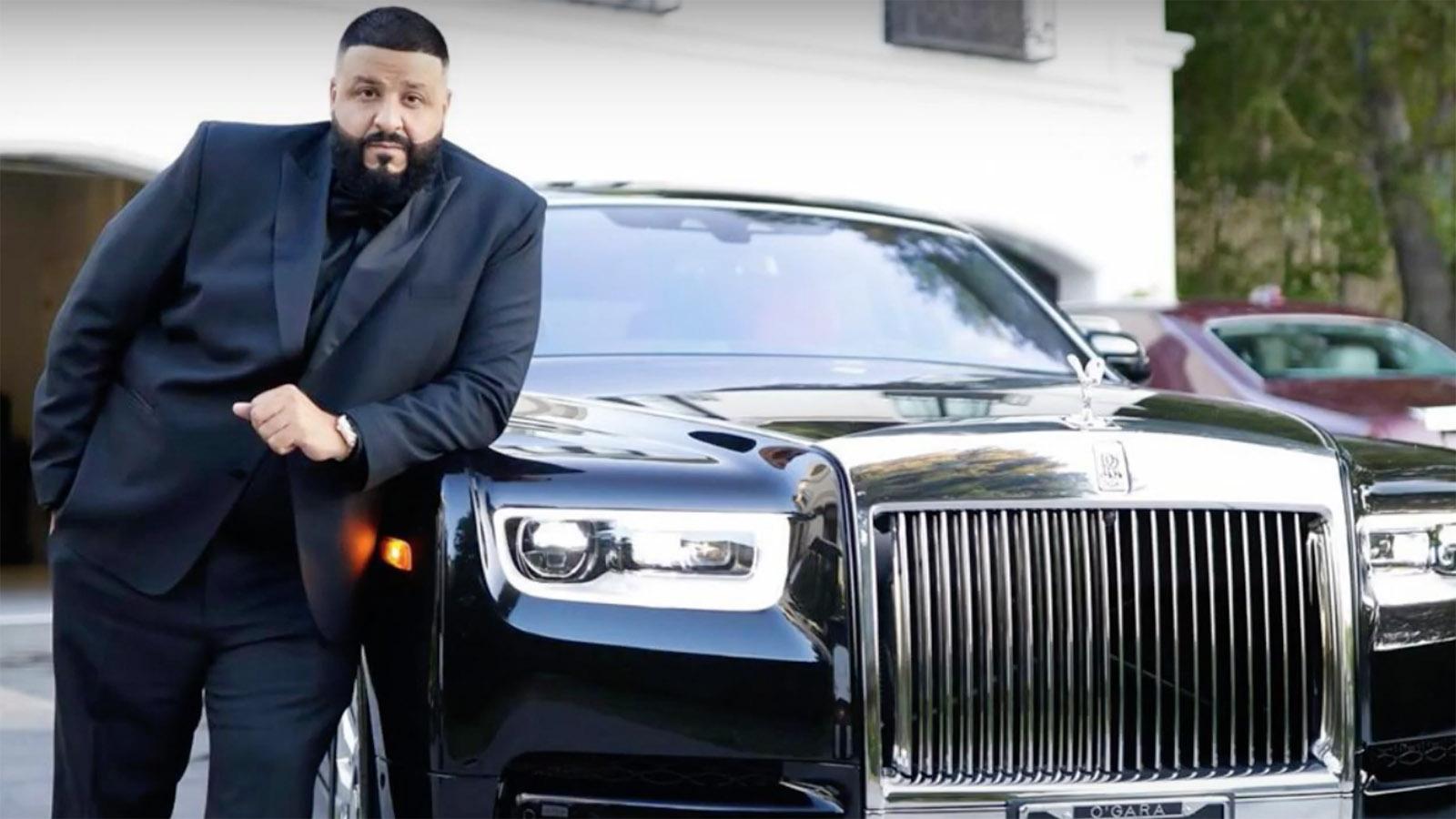 DJ Khaled with Rolls Royce