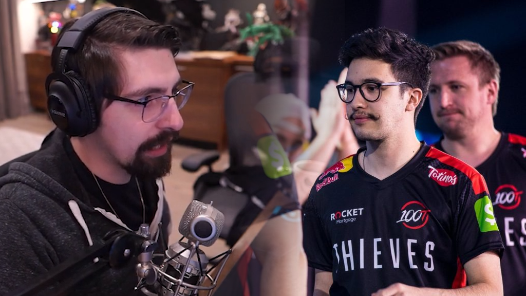 Shroud side by side with Gratisfaction and jkaem from 100 Thieves