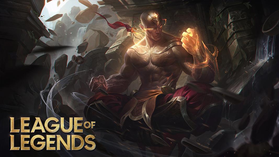 Lee sin splash art in league of legends
