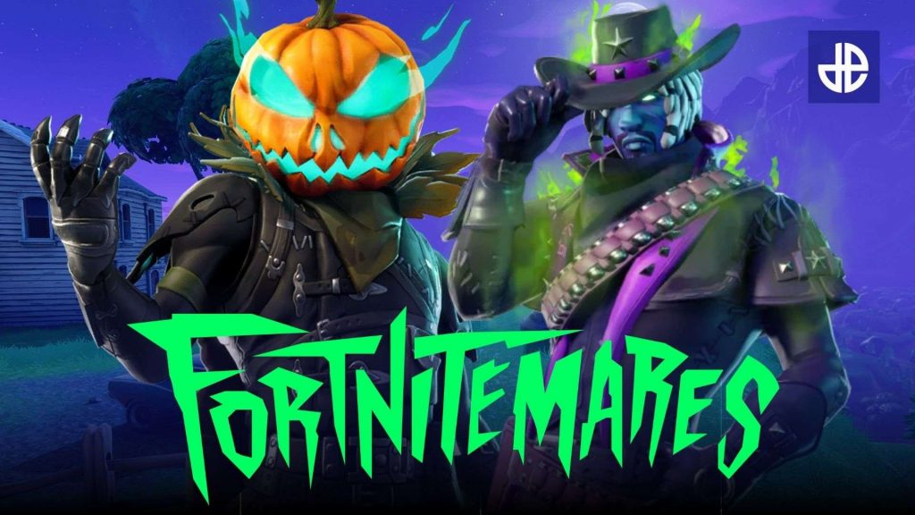 Two characters looking at the screen from Fortnitemares
