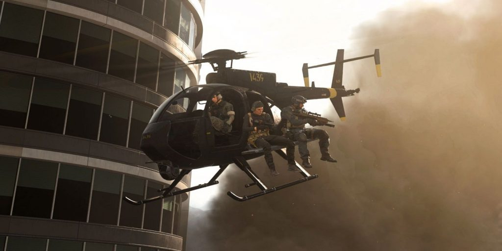 Warzone airport tower helicopter