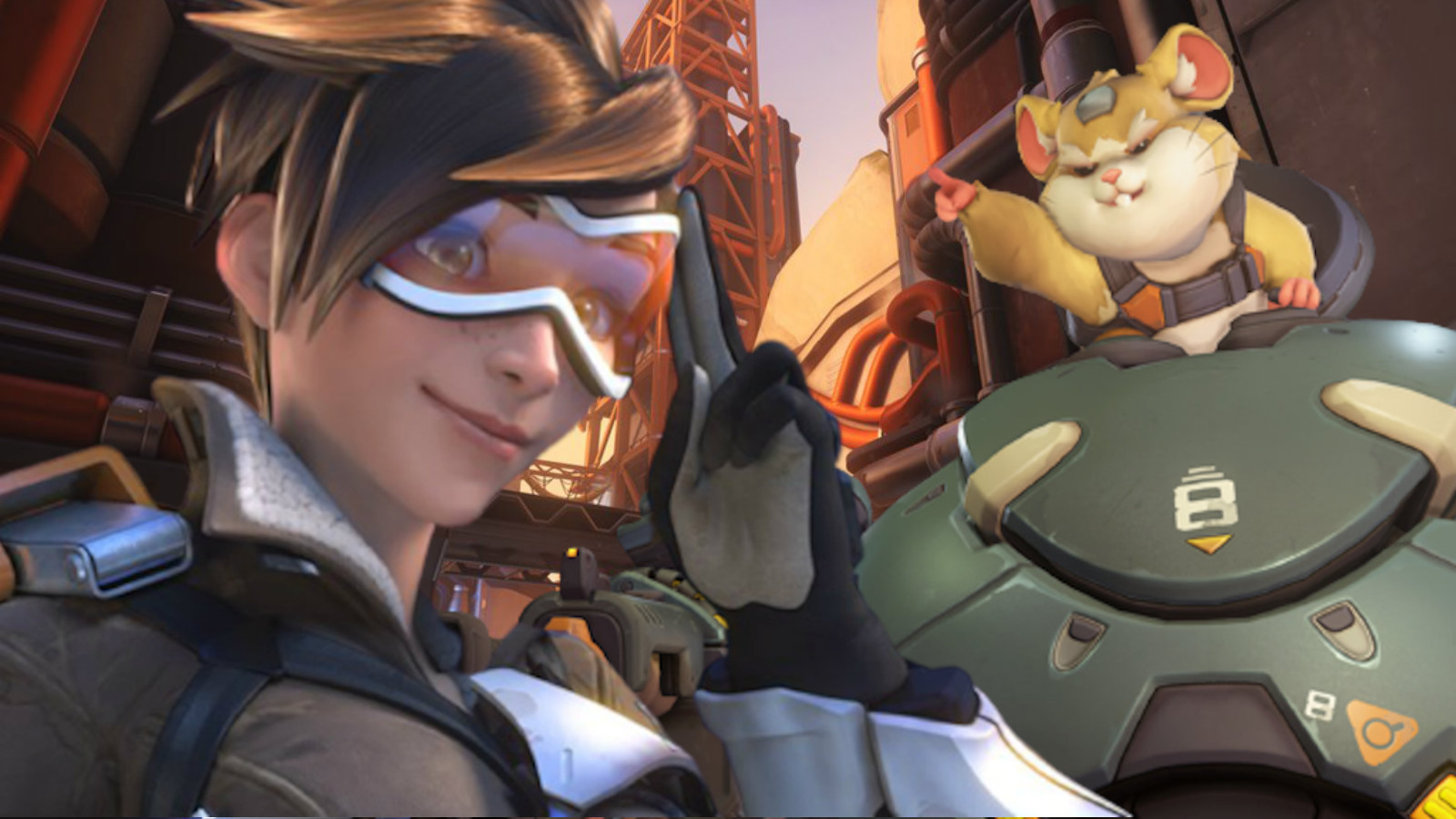 Tracer and Wrecking Ball in Overwatch