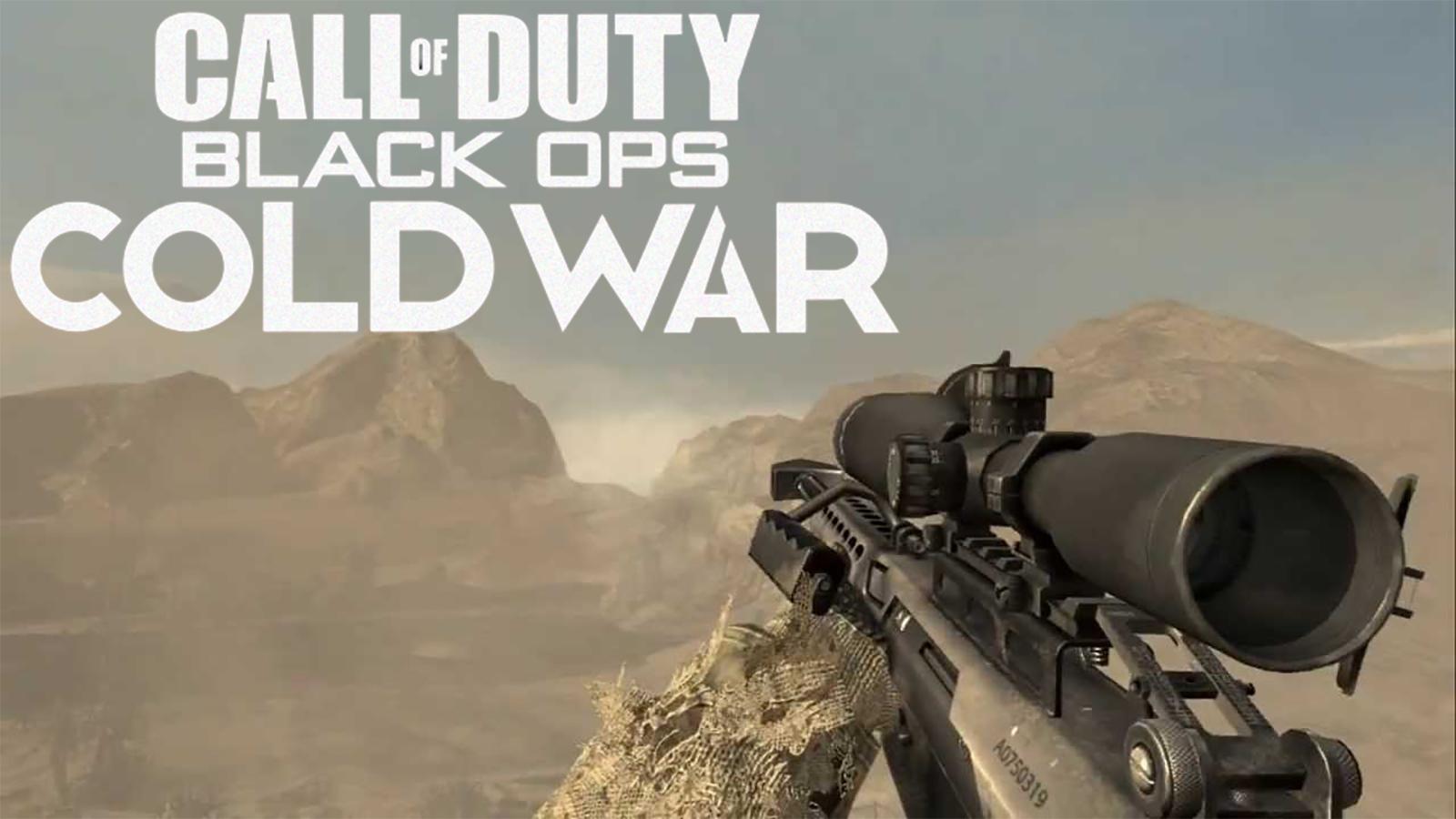 Black Ops Cold War Modern Warfare 2 Barrett 50 cal