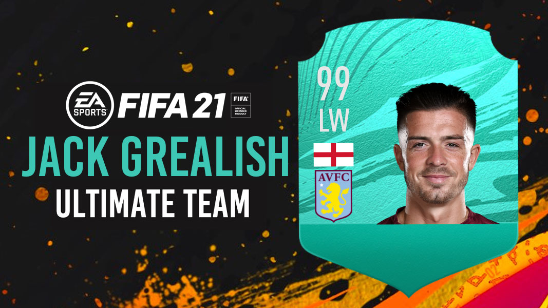 FIFA 21 pro player card for Jack Grealish