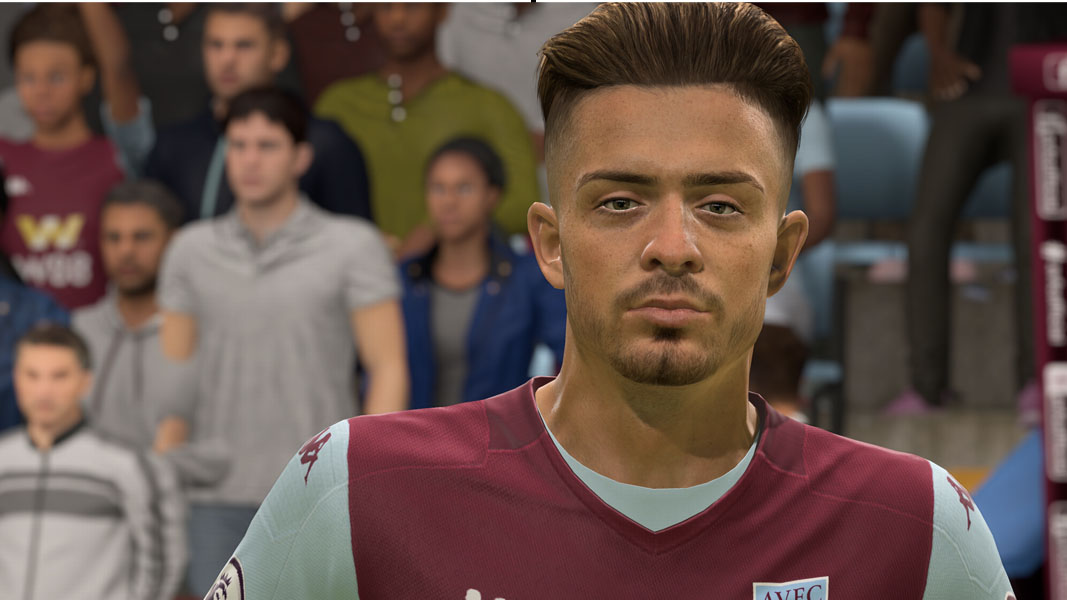 Jack Grealish's face in FIFA 20