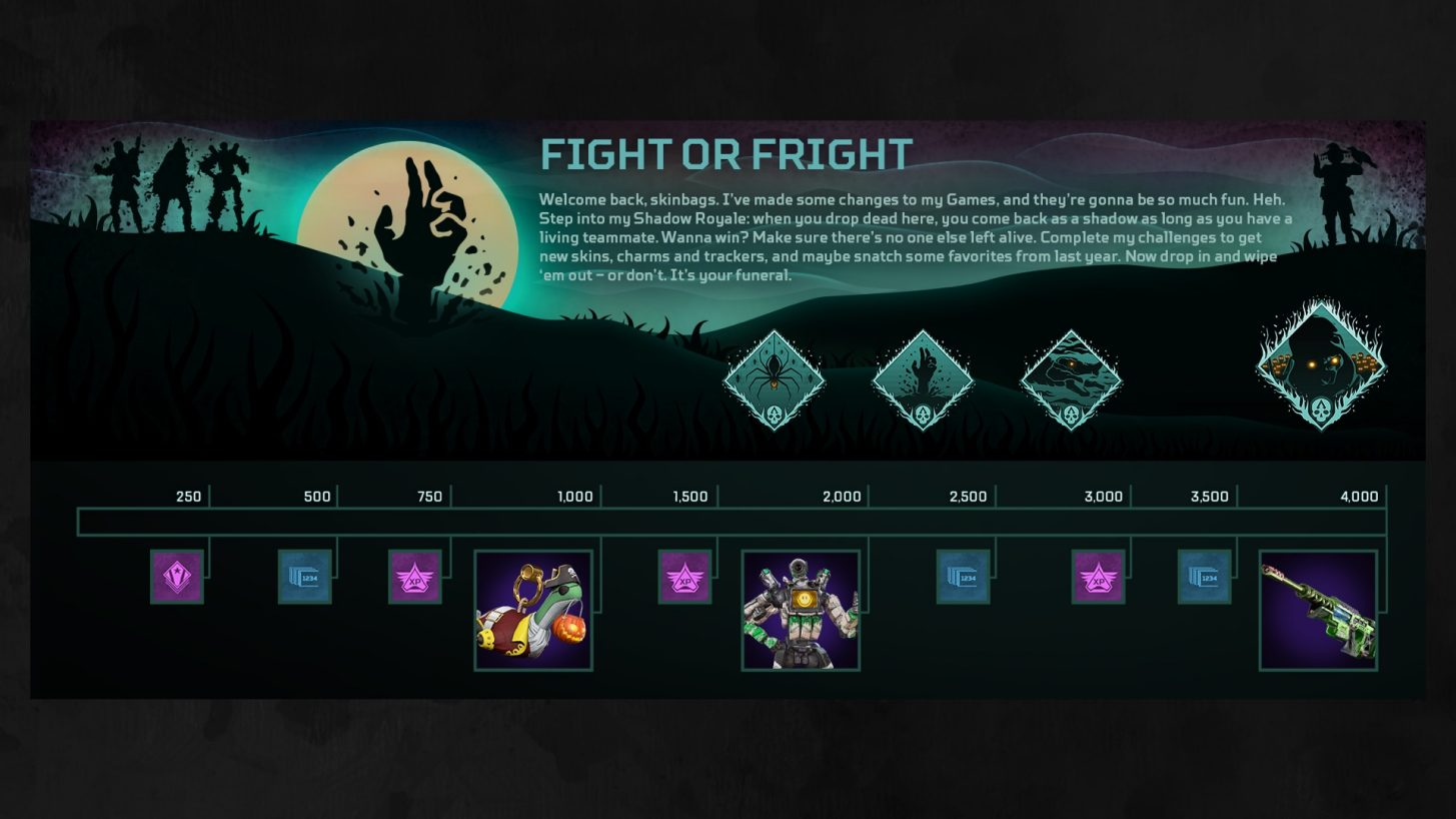 Fight or Fright event prize track