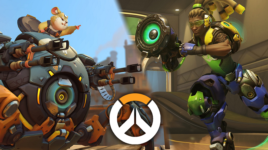 Overwatch Wrecking Ball and Lucio gameplay