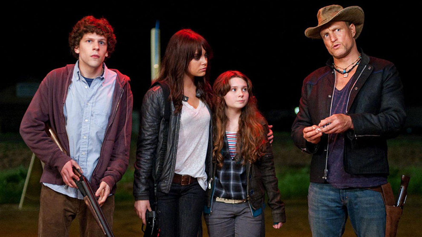 The cast of Zombieland