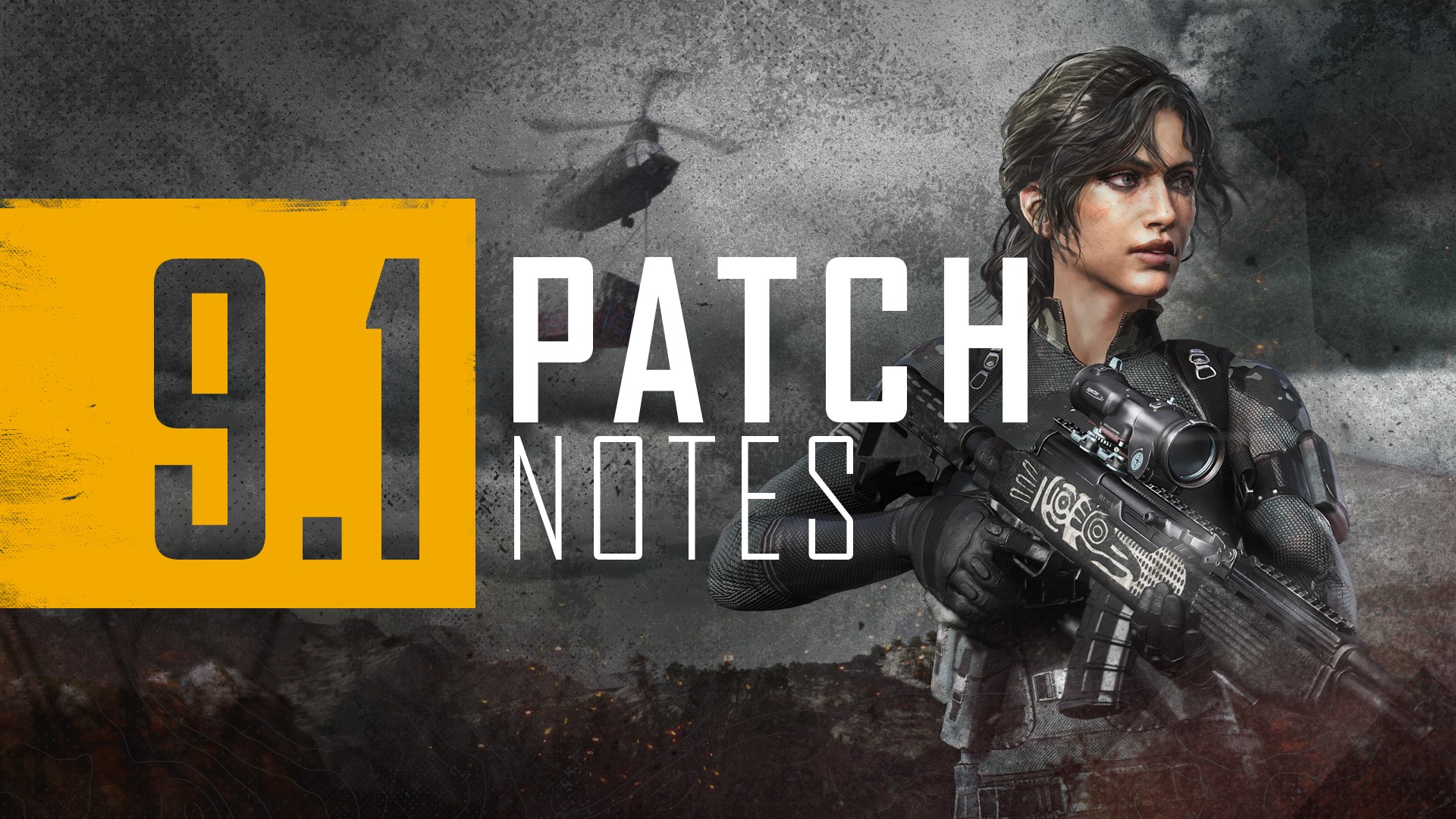 Advertising PUBG 9.1 patch notes