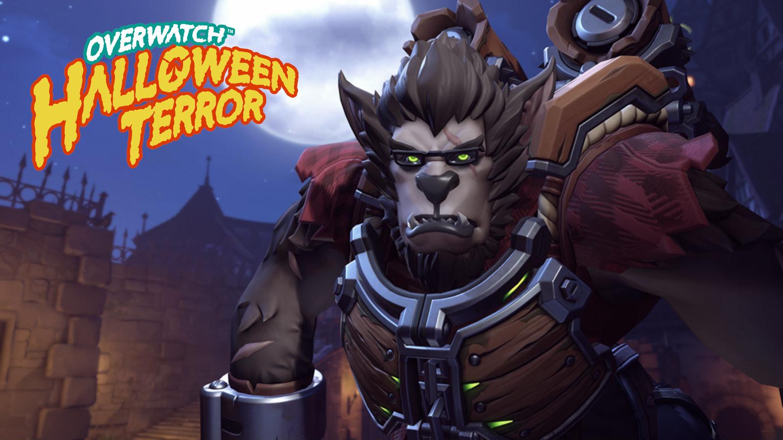 Winston Halloween Werewolf skin