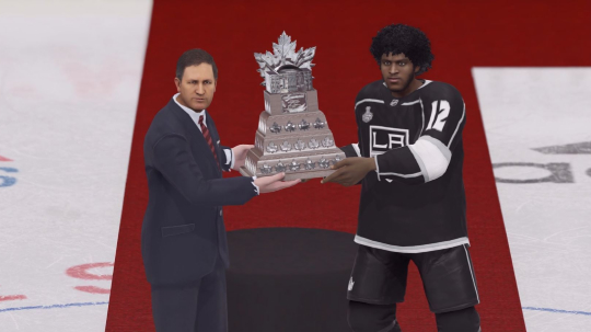 Custom player winning trophy