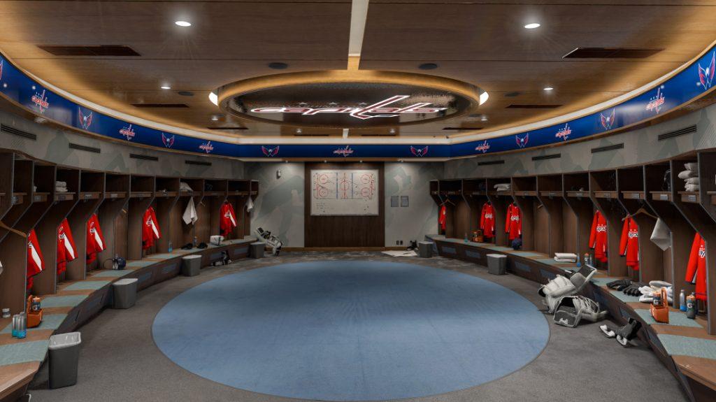 NHL locker room