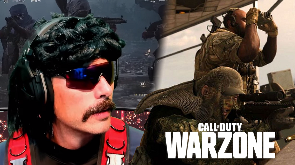 Dr Disrespect streaming Warzone