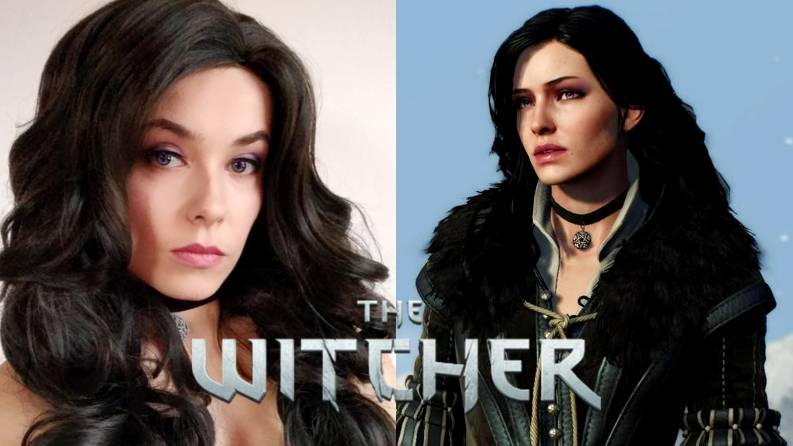 Cosplayer DariaSol next to Yennefer from The Witcher