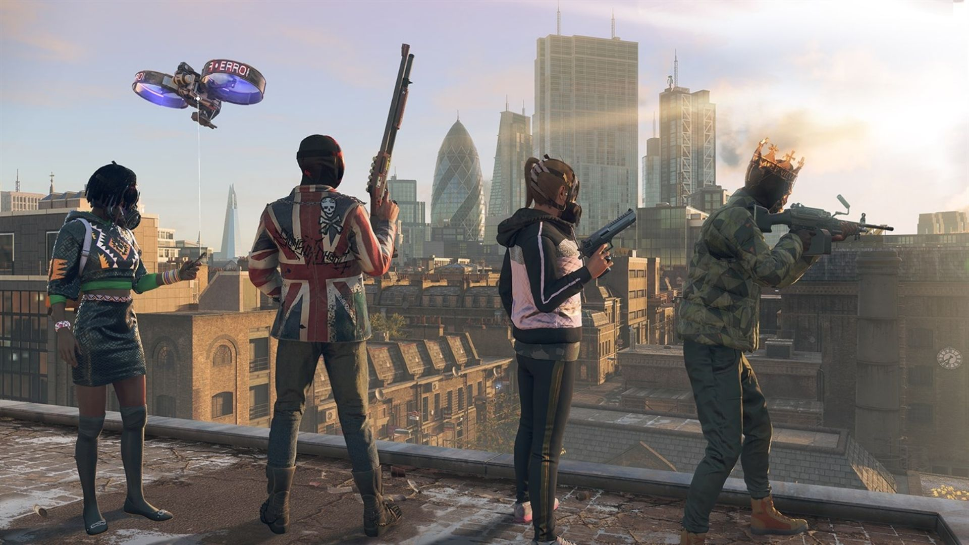 4 characters in London in Watch Dogs Legion