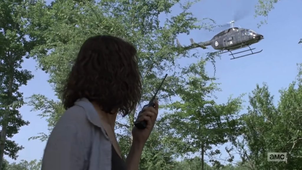 rick grimes crm helicopter