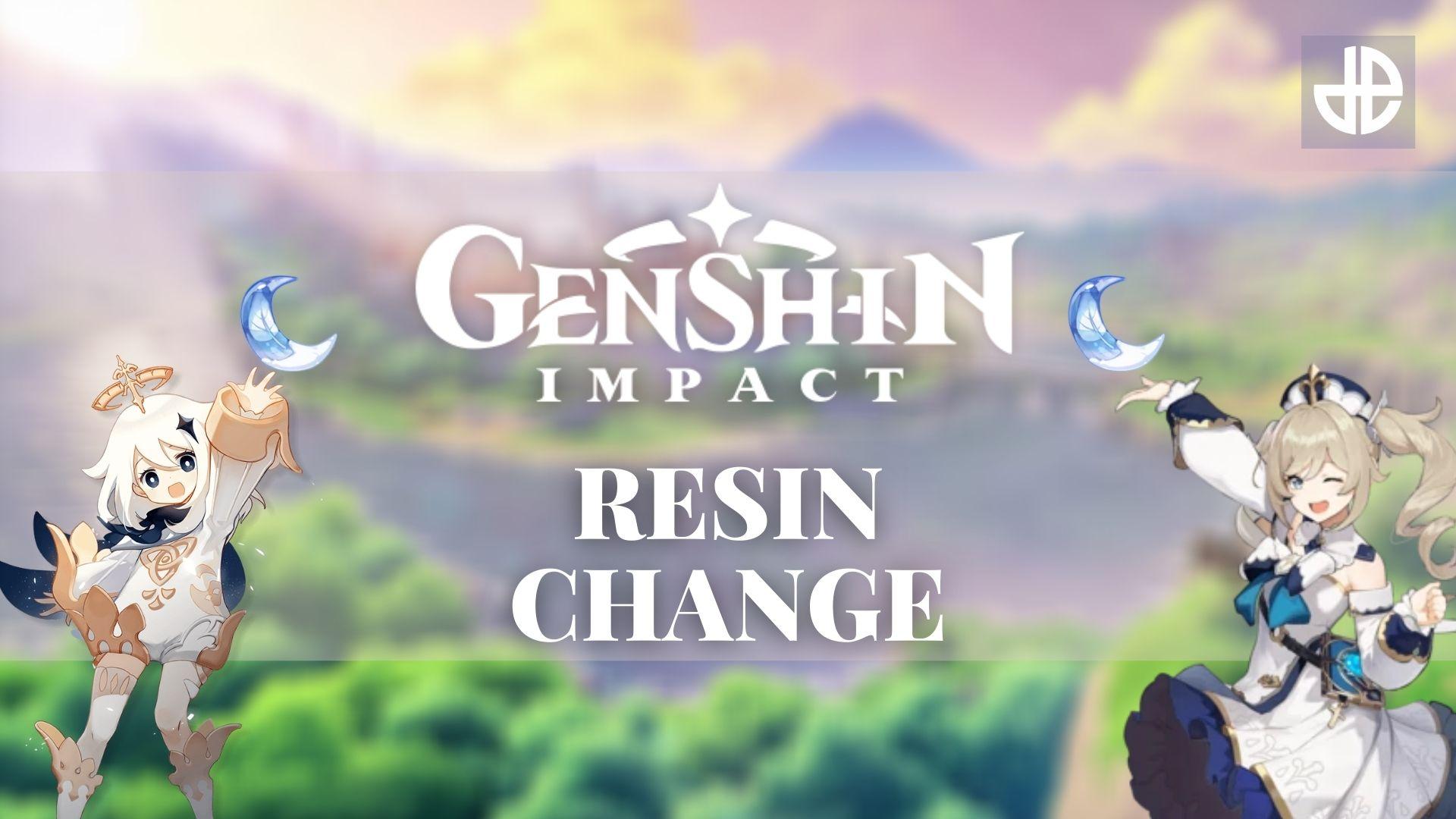 Genshin Impact Resin system