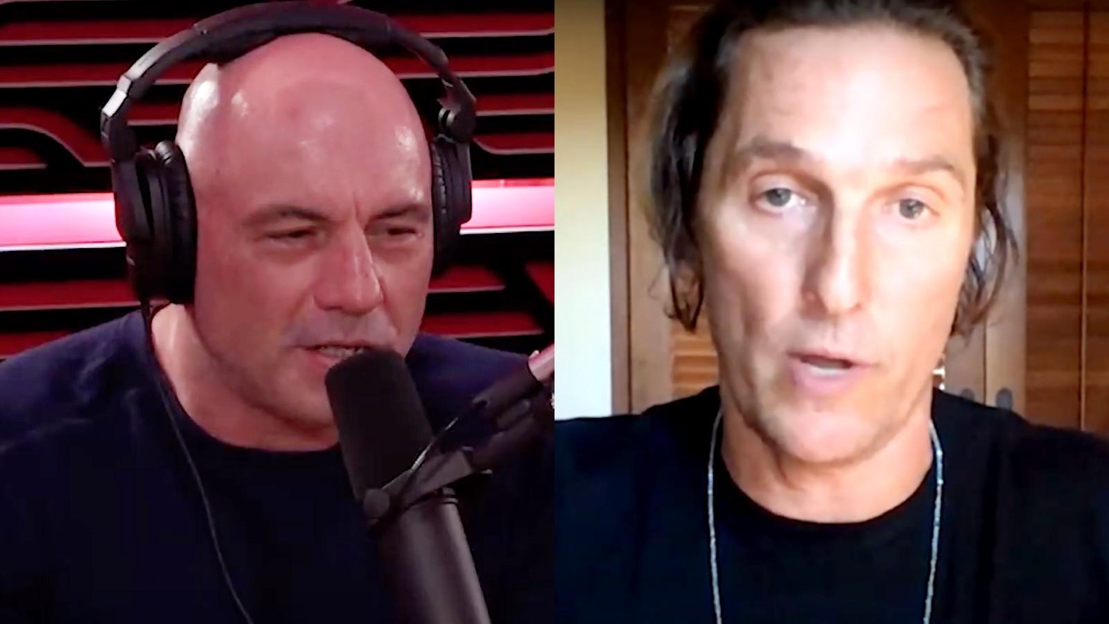Joe Rogan and Matthew McConaughey on the JRE podcast
