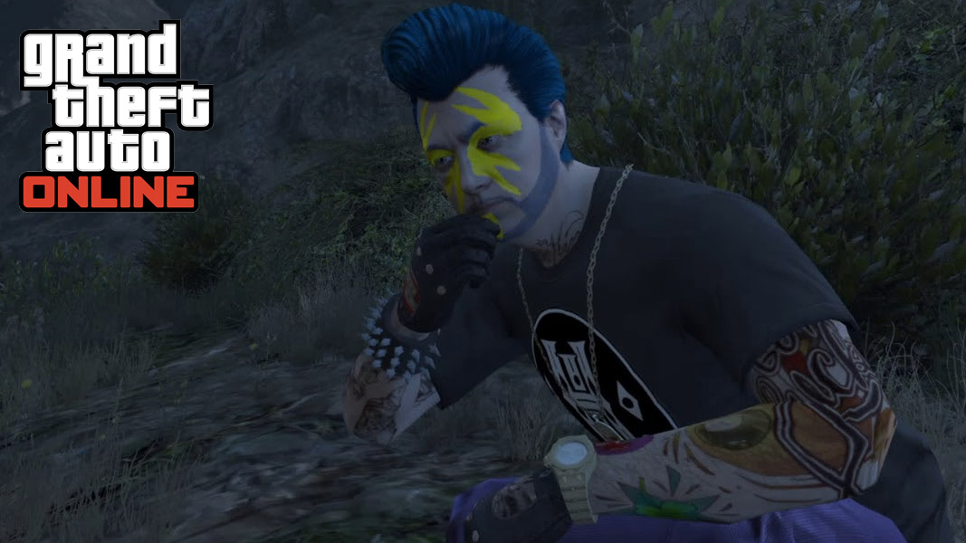 GTA V character eating a Peyote Plant