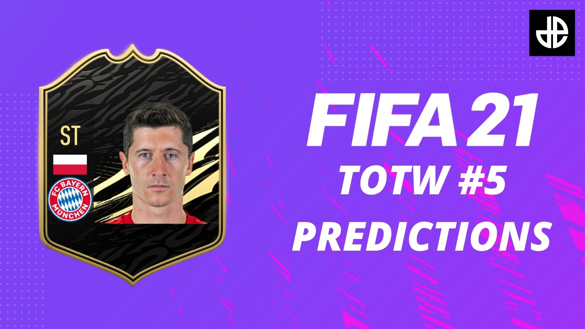 Robert Lewandowski TOTW card fifa 21