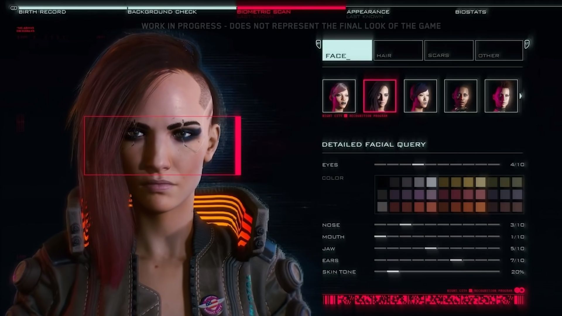 character creation in cyberpunk 2077