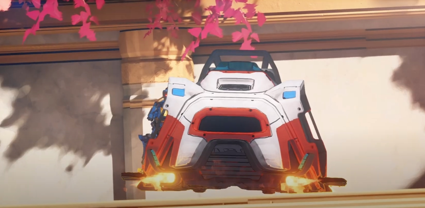 a new vehicle called the trident that looks like a hovercraft is shown in the new ascension trailer