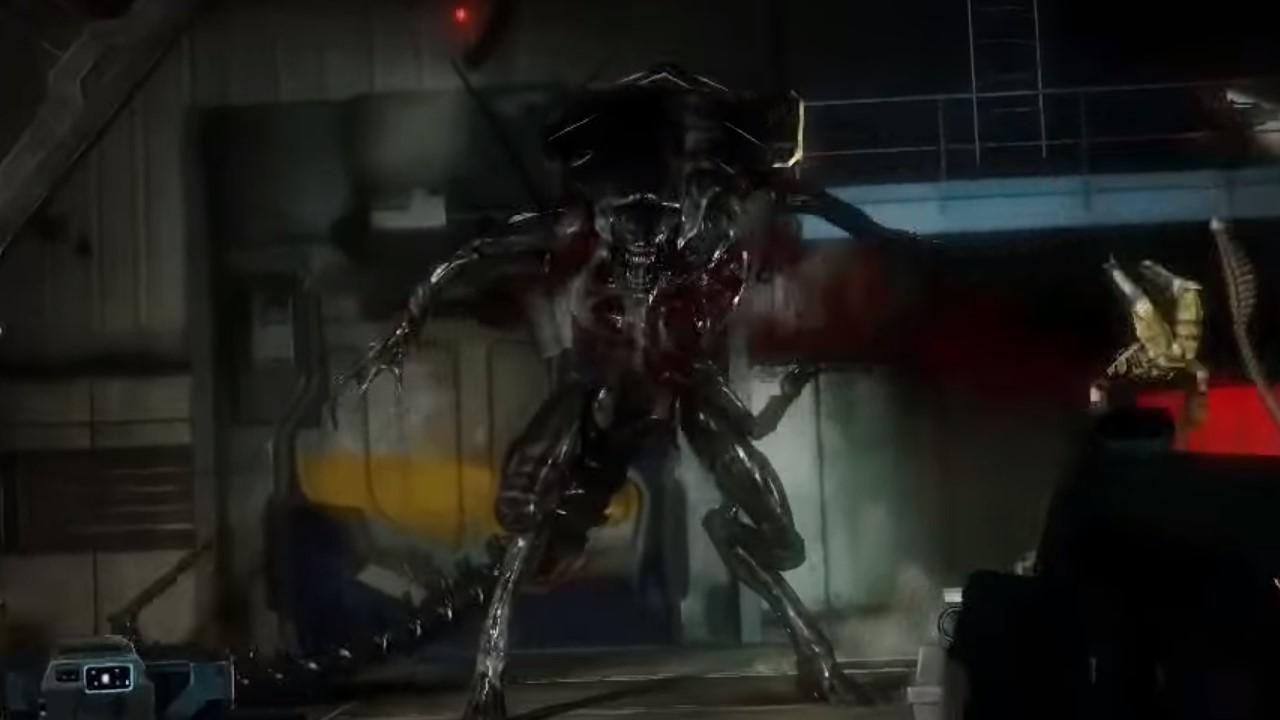 A xenomorph in aliens colonial marines
