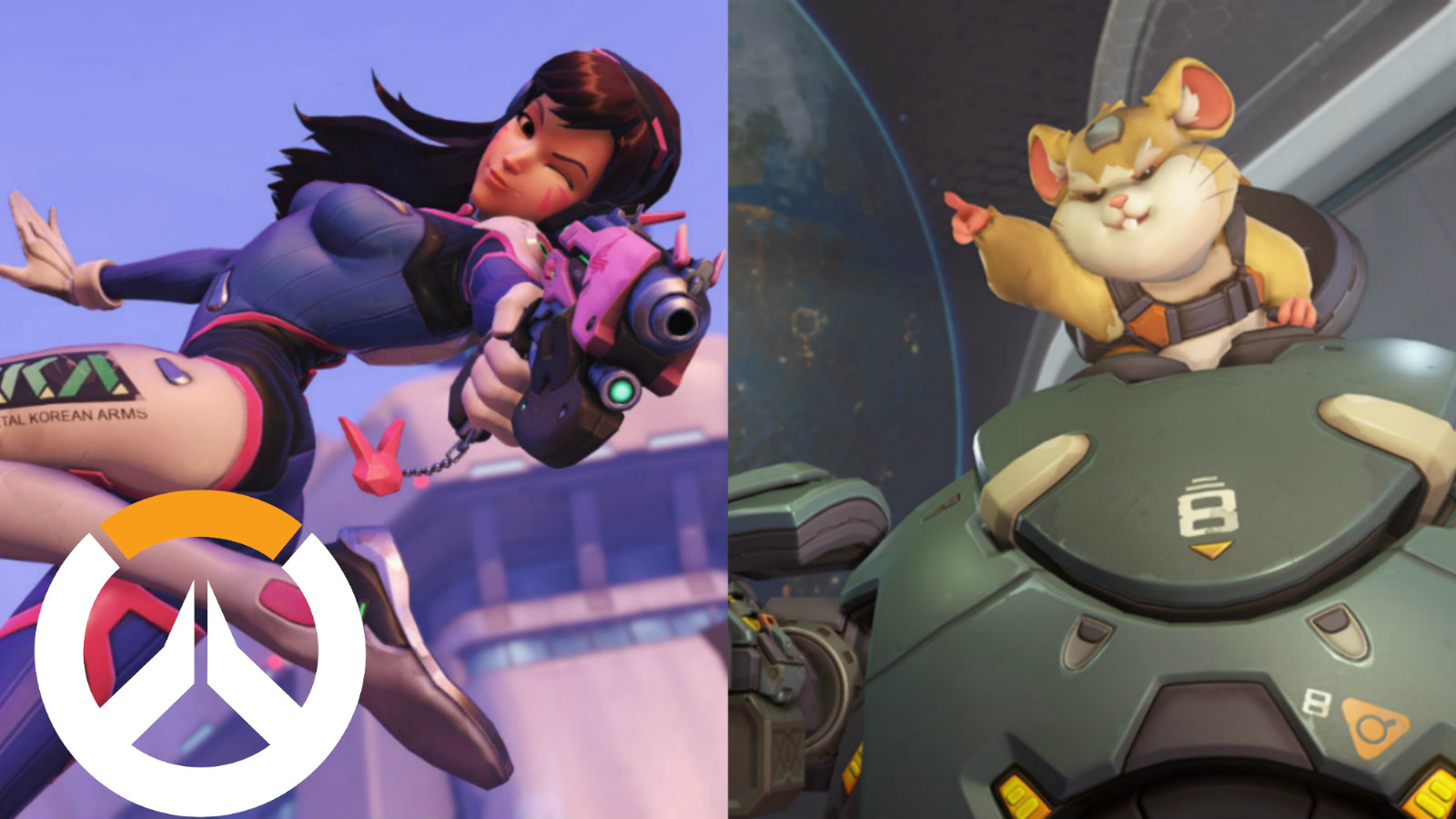 Dva and Wrecking Ball in Overwatch